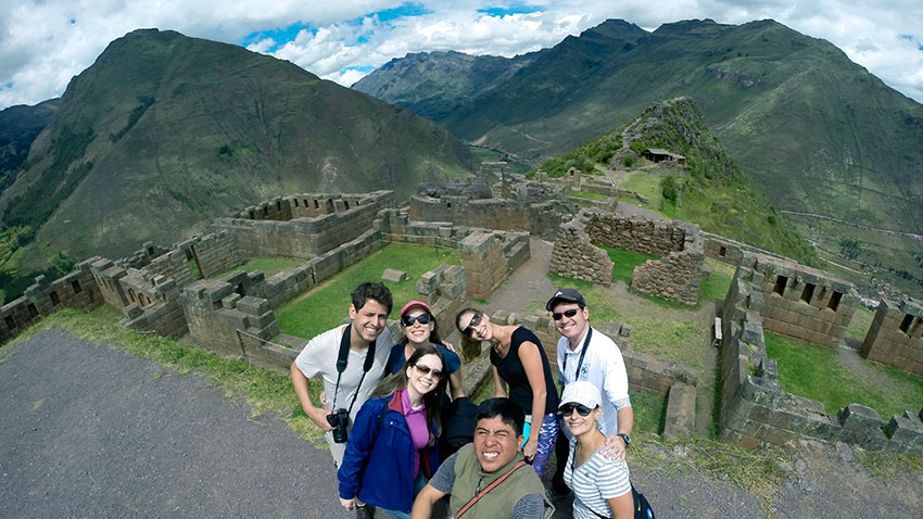 Our passengers in the archaeological complex of Pisac