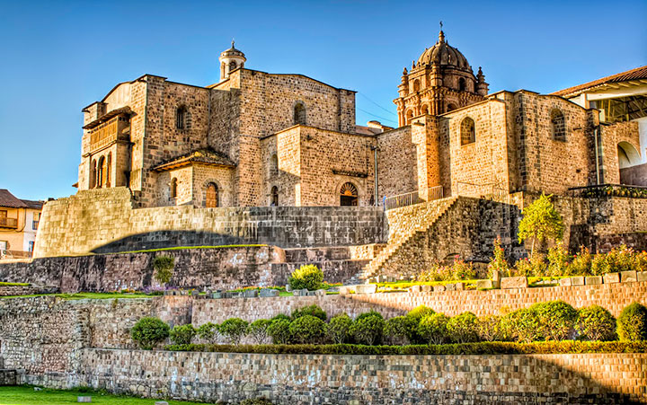 Inca temple of Koricancha at present is known as the Temple of Santo Domingo.