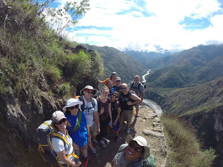 Hike on the second day of Inca Jungle