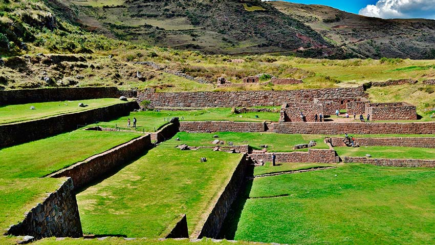 Inca terraces of tipon in the south of cusco