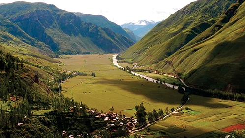 view of sacred valley tour
